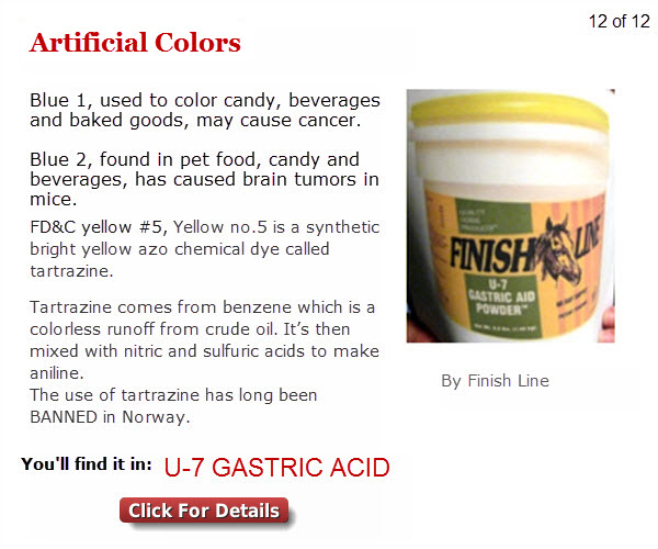 1 12 Artificial Colors Are You Feeding Your Horse Any Of These 12 Potentially Hazardous Ingredients?