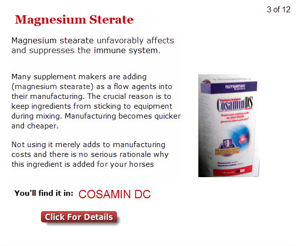 1 3 Magnesium Sterate Are You Feeding Your Horse Any Of These 12 Potentially Hazardous Ingredients?